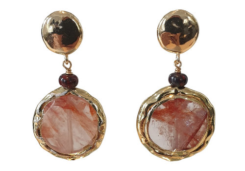 TREND COLLECTION Gold, Red, Nude Earring