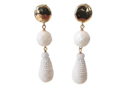 TREND COLLECTION White Earring