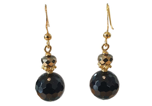 TREND COLLECTION Gold, Black Earring