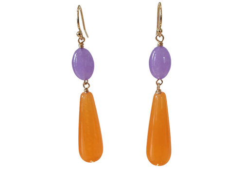 TREND COLLECTION Purple, Orange Earring