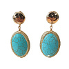 TREND COLLECTION Earrings with Bras and Turqoise