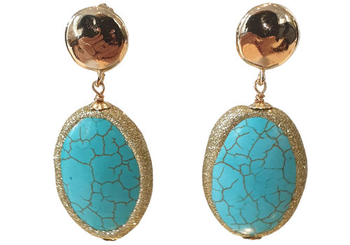 TREND COLLECTION Gold, Turqoise Earring