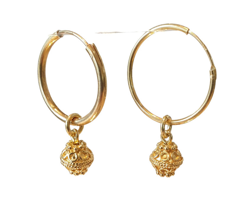 Earrings with Gold Plated Elements