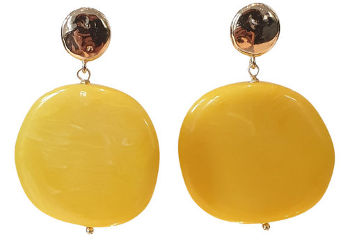 TREND COLLECTION Gold, Yellow Earring
