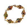CLASSIC COLLECTION Bracelet with Bras, Gold Plated elements and Crystal