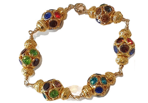 CLASSIC COLLECTION Gouden Kleurrijke Armband