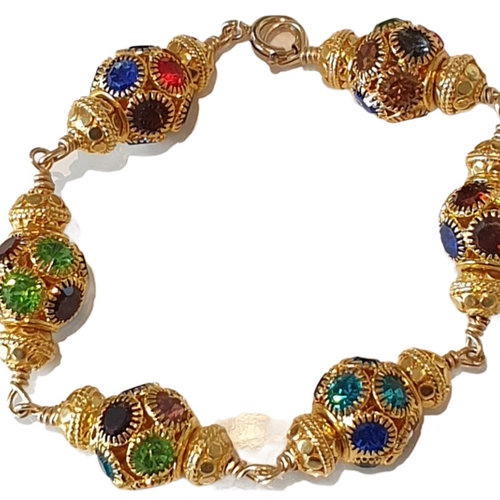 Gold Colorful Bracelet