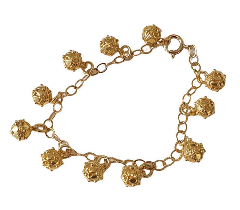 Bracelet with Gold Plated Elements