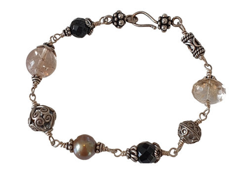CLASSIC COLLECTION Zilver, Zwart, Grijze Armband