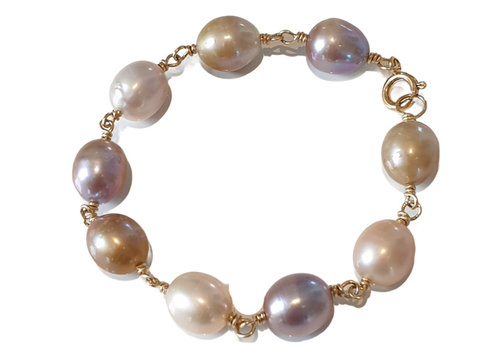CLASSIC COLLECTION Goud, Nude, Witte Armband
