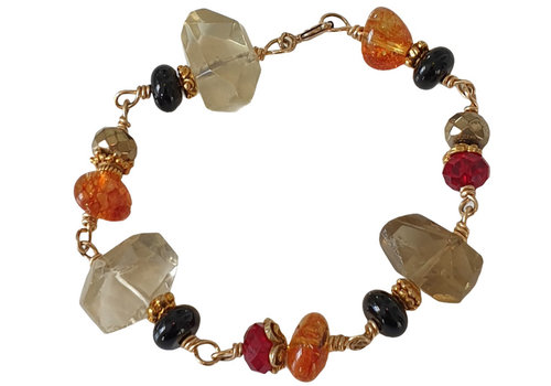 CLASSIC COLLECTION Gold, Red, Black, Orange Bracelet