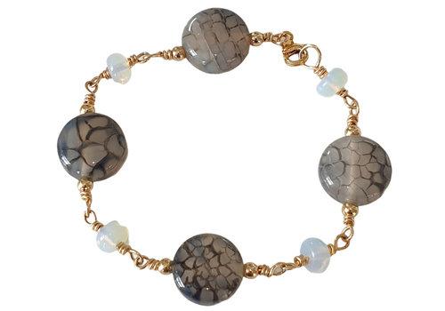 CLASSIC COLLECTION Gray, Blue Bracelet