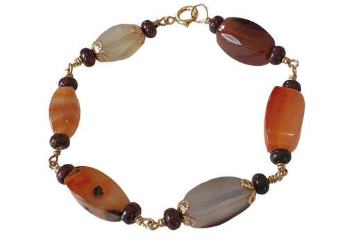 CLASSIC COLLECTION Bruin, Oranje Armband