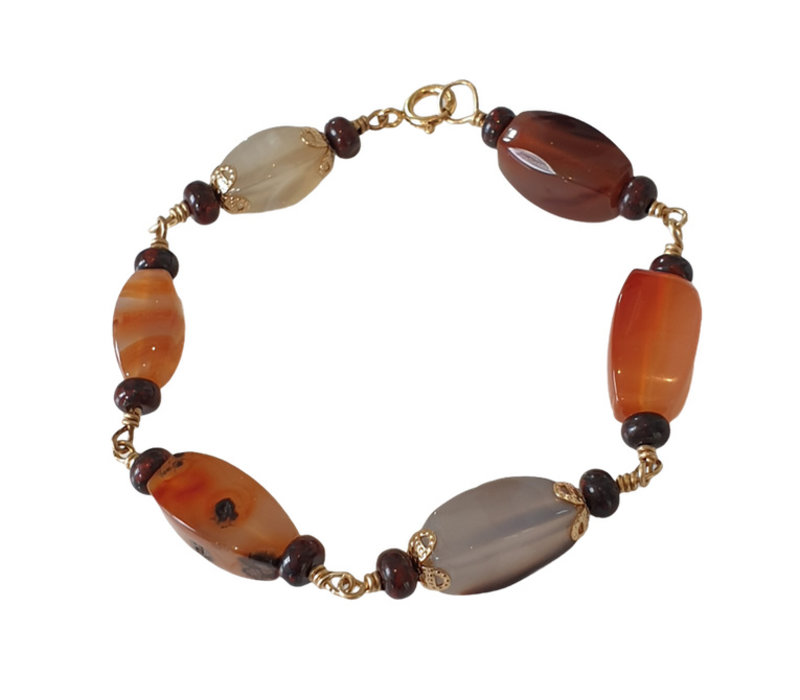 Bracelet with Agate and Jasper