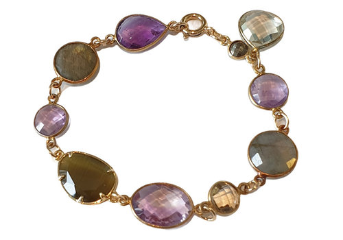 CLASSIC COLLECTION Gold,. Purple, Brown Bracelet
