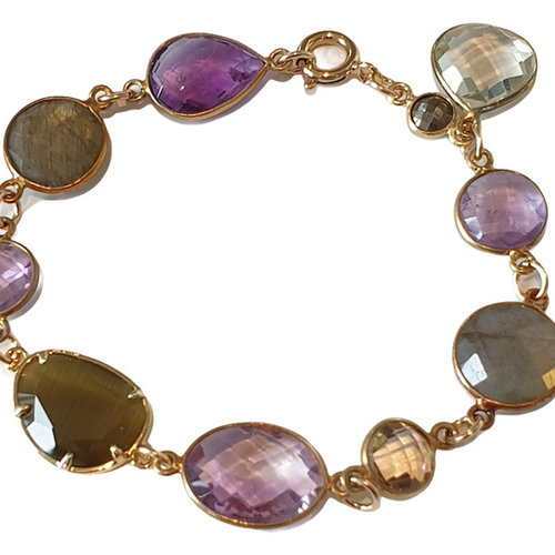 Gold,. Purple, Brown Bracelet