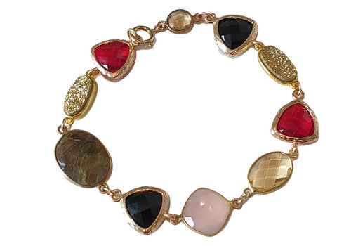 CLASSIC COLLECTION Gold, Red, Pink, Brown Bracelet