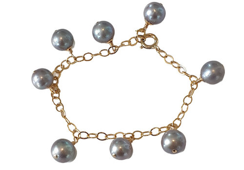 CLASSIC COLLECTION Gold, Gray Bracelet