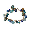 CLASSIC COLLECTION Bracelet with Turqoise, Aquamarine, Crystal, Agate and Lapis Lazulite