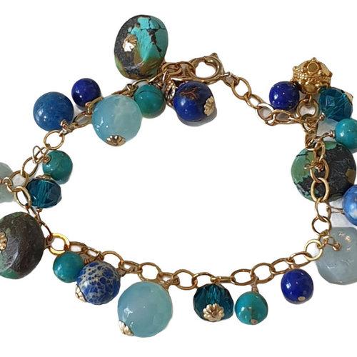 Gold, Blue, Aqua