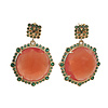 TREND COLLECTION Earrings with Cat's Eye and Crystal