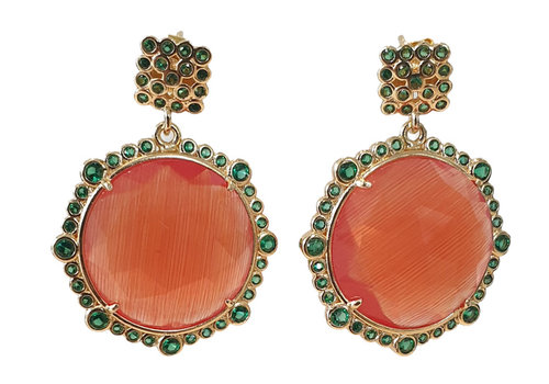 TREND COLLECTION Green, Orange Earring