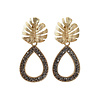 TREND COLLECTION Earrings with Bras and Marcasite drop
