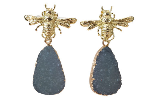 TREND COLLECTION Gold, Gray Earring