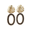 TREND COLLECTION Earrings with Bras and Markasite oval