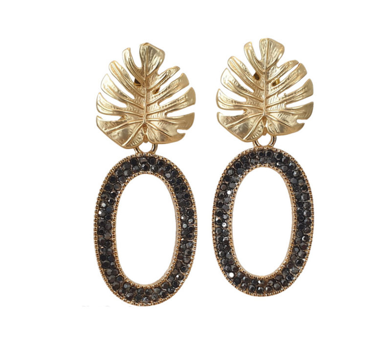 Earrings with Bras and Markasite oval