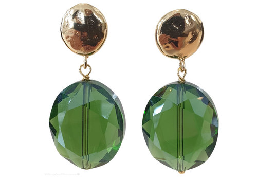 TREND COLLECTION Green, gold Earring