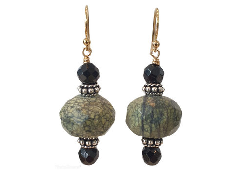 CLASSIC COLLECTION Black, Gray Brown Earring