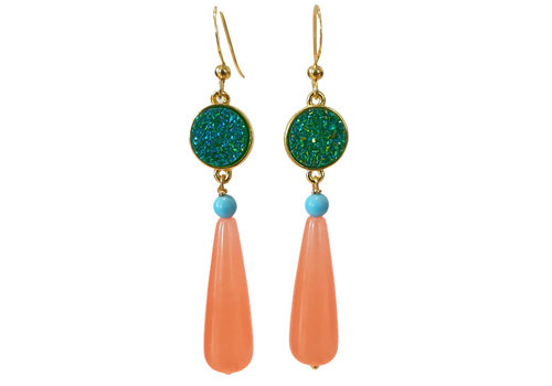 TREND COLLECTION Green, Pink Earring