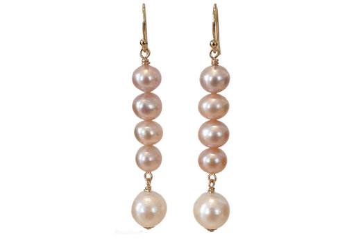 CLASSIC COLLECTION Gold, White, Nude Earring