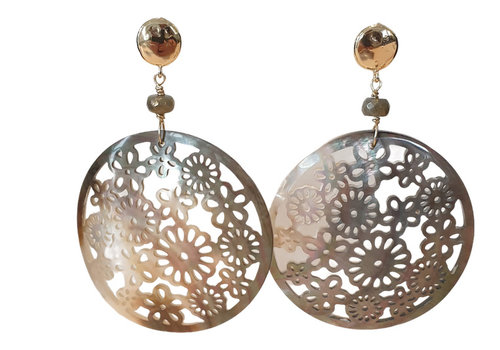 CLASSIC COLLECTION Gold, Brown, Nude Earring