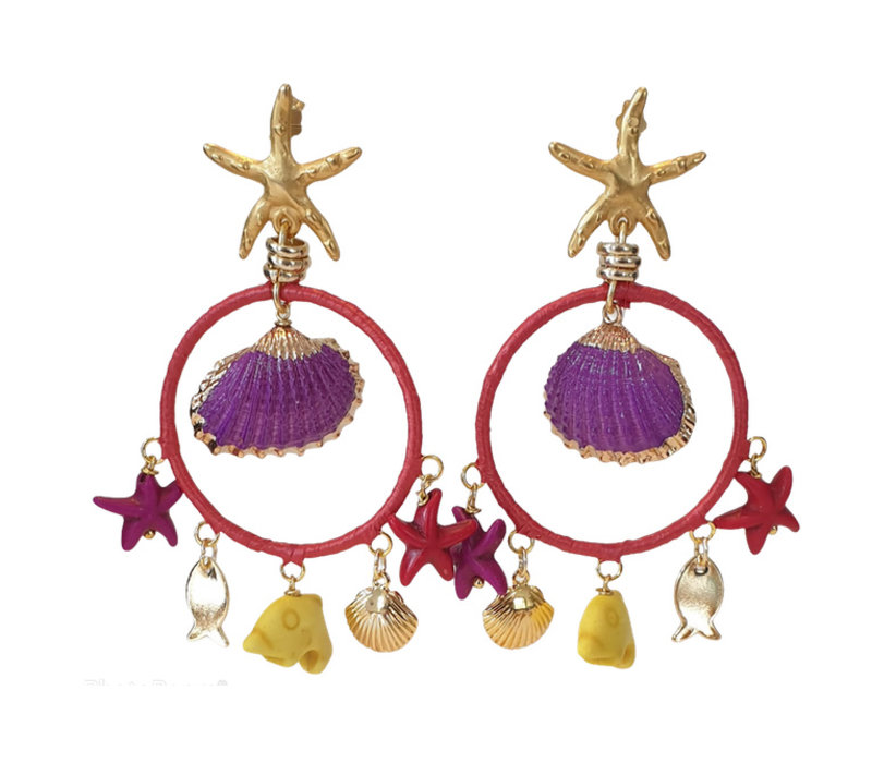 Earrings with various charms