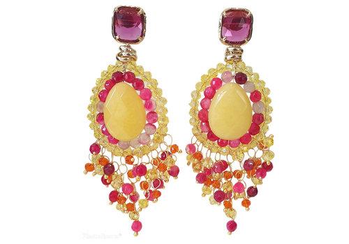 CLASSIC COLLECTION Multi Color en gouden oorbellen