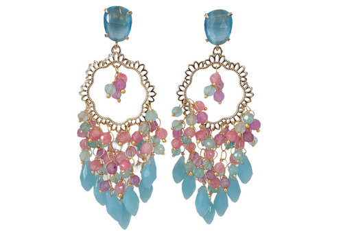 CLASSIC COLLECTION Multi Color and Gold Earrings