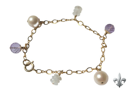 CLASSIC COLLECTION Paars, witte armband