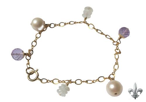 CLASSIC COLLECTION Purple, white bracelet