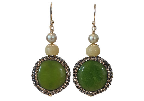 CLASSIC COLLECTION Groene oorbel