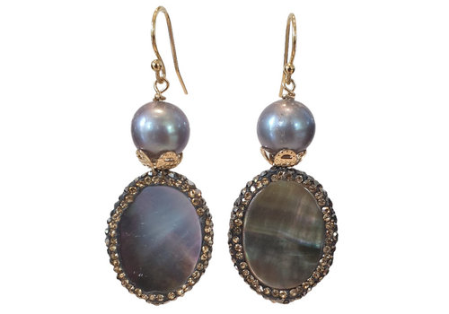 CLASSIC COLLECTION Gray earring
