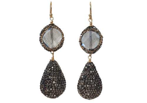 CLASSIC COLLECTION Gray black earring