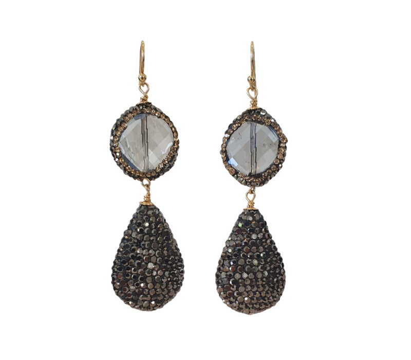 Earrings with Crystal and Marcasite