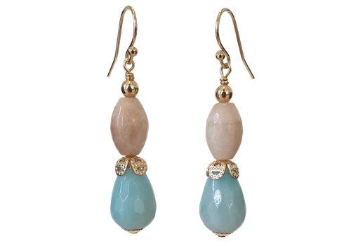 CLASSIC COLLECTION Nude, Aqua Earring