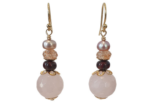 CLASSIC COLLECTION Nude, Pink earring