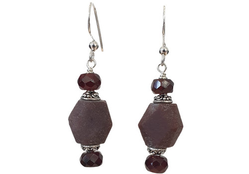 TREND COLLECTION Purple, brown earring