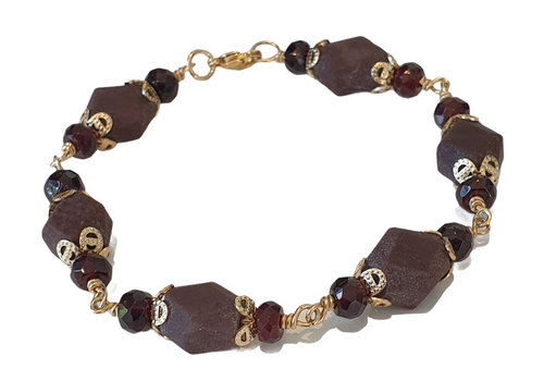 CLASSIC COLLECTION Paars, bruine armband