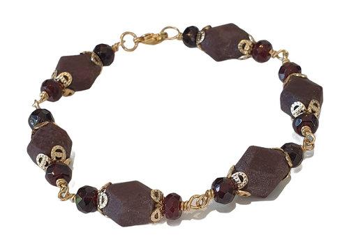 CLASSIC COLLECTION Purple, brown bracelet