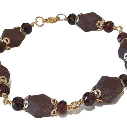 Purple, brown bracelet